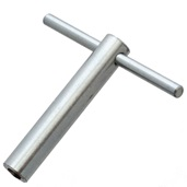 Tuning key for Dresdner Trommel with 7 mm square tension rods and exposed head